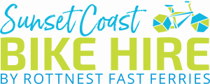 sunset coast bike hire by rottnest fast ferries logo